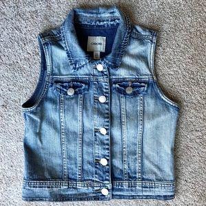 Cherokee Girls Jean jacket vest size 10/12